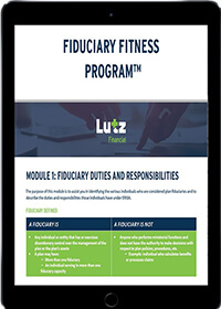 Fiduciary fitness program