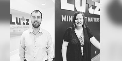 Lutz adds Lake and Risinger as Staff Accountants