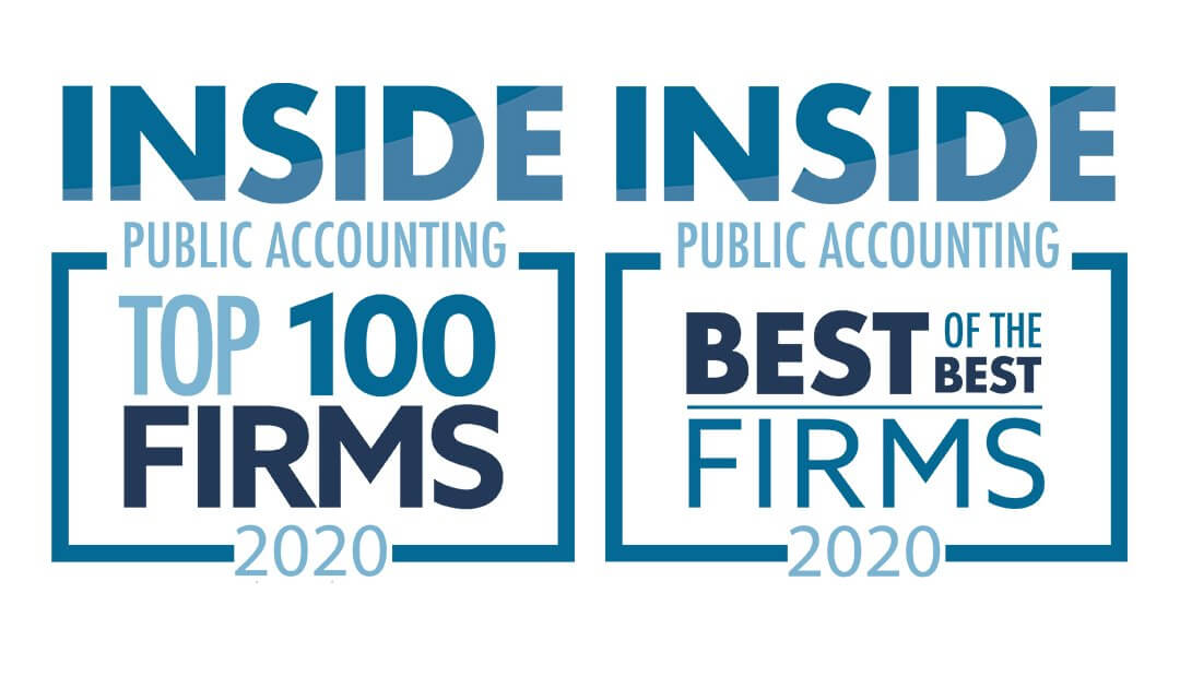"""Lutz Named a 2020 """"Top 100 Firm"""" and """"Best of the Best"""" by INSIDE Public Accounting"""