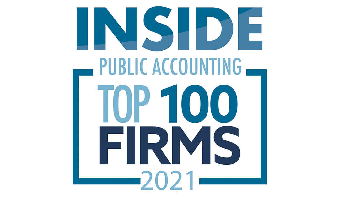 Lutz named a 2021 Top 100 Firm by INSIDE Public Accounting